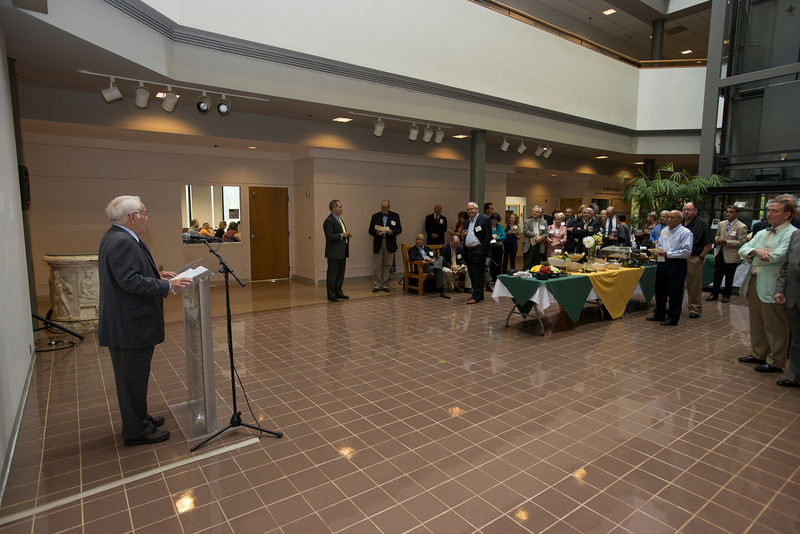 Provost Peter Sterns speaks at the Distinguished Faculty Reception. Photo by Alexis Glenn/Creative Services/George Mason University