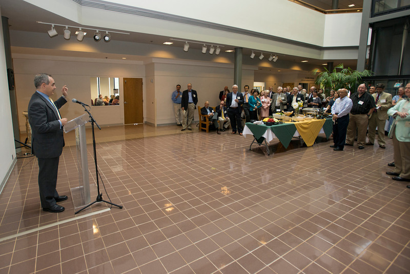 President Ángel Cabrera speaks at the Distinguished Faculty Reception. Photo by Alexis Glenn/Creative Services/George Mason University