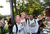 Student athletes from the Women's Volleyball team participate in the 4th annual Happy Heart Walk. The event sponsored by Wellness at Mason promotes preventitive health screenings tand encourages healthy choices in general wellness and exercise for the Mason community. Photo by Evan Cantwell/Creative Services/George Mason University
