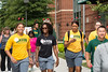 Students, faculty and staff participate in the 8th Annual Happy Heart Walk.  Photo by Ron Aira/Creative Services/George Mason University