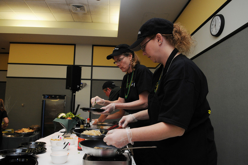 Mason Dining participates in the dining Mason Chops cookoff at the Health and Fitness Expo. Photo by Evan Cantwell/Creative Services/George Mason University