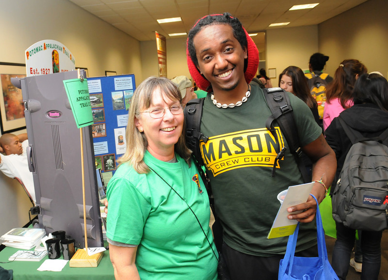 Health and Fitness Expo booths.  Photo by Evan Cantwell/Creative Services/George Mason University