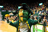 The Patriot is seen at the Mason Homecoming 2012 basketball game at the Patriot Center, Fairfax Campus. Photo by Alexis Glenn/Creative Services/George Mason University