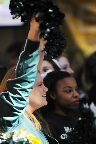 Homecoming pep rally in the Johnson Center. Photo by Evan Cantwell/Creative Services