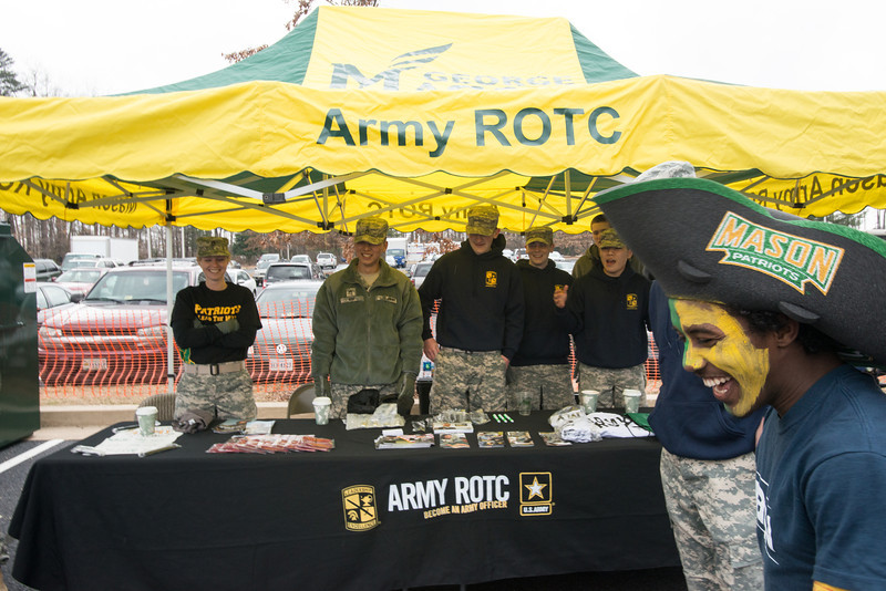 ROTC tent at the Homecoming 2013 block party. Photo by Evan Cantwell/Creative Services/George Mason University