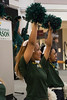 Students attend a homecoming pep rally in the Johnson Center. Photo by Evan Cantwell/George Mason University