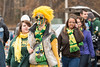 Students arrive at the 2013 Mason Homecoming block party. Photo by Alexis Glenn/Creative Services/George Mason University
