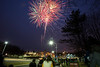 Fireworks are launched after the 2013 Mason Homecoming game. Photo by Alexis Glenn/Creative Services/George Mason University