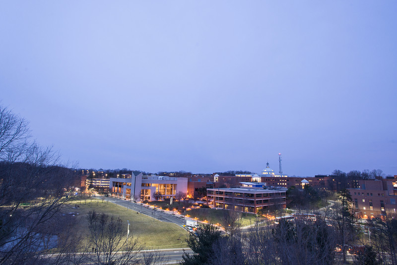 Rooftop view of the Fairfax campus. Photo by Evan Cantwell/Creative Services/George Mason University