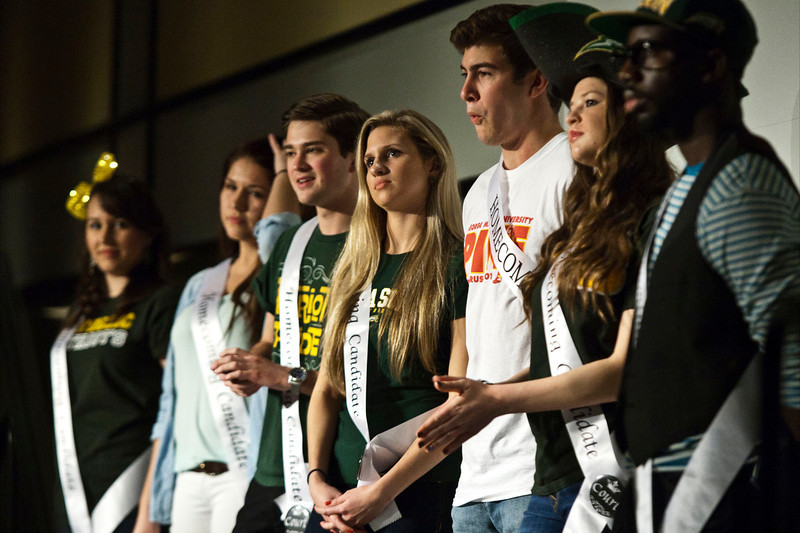 Students compete in trivia section of Mason Majesty at Dewberry Hall on Monday, Feb. 11. Photo by Craig Bisacre/Creative Services/George Mason University