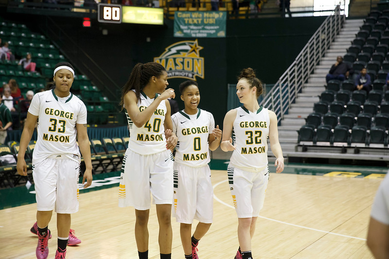 George Mason Women's Basketball team takes on VCU during the annual Homecoming game at the Patriot Center. Photo by Craig Bisacre/Creative Services/George Mason University