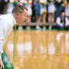 The Men's Basketball coach Dave Paulsen during the game against Davidson for Homecoming 2016.  Photo by Ron Aira/Creative Services/George Mason University