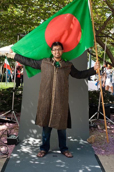 Sam Anam, International Week portraits on Fairfax Campus. Photo by Alexis Glenn/Creative Services/George Mason University
