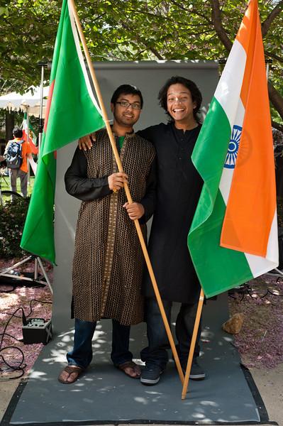 Sam Anam and Kunal Barua, International Week portraits on Fairfax Campus. Photo by Alexis Glenn/Creative Services/George Mason University