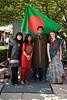 Farzana Rahman, Nabila Hossain, Sam Anam, and Rebecca Chenette, International Week portraits on Fairfax Campus. Photo by Alexis Glenn/Creative Services/George Mason University