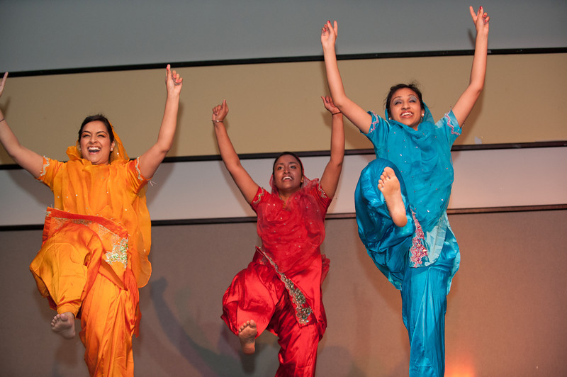 Mason's international student clubs present dances from around the world in an International Week dance competition on Fairfax Campus. Photo by Alexis Glenn/Creative Services/George Mason University