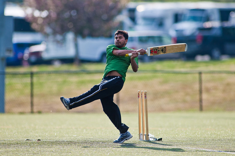Students take part in an all day cricket tournament on the intermural fields as one of the first events of International Week 2012. Photo by Craig Bisacre /Creatives Services /George Mason University