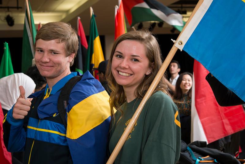 International Week Flag Parade