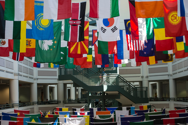 International Week flags