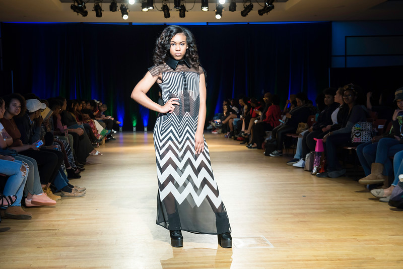 Cultural Couture Fashion Show: Wed, April 13th, JC Dewberry Hall.  Photo by:  Ron Aira/Creative Services/George Mason University