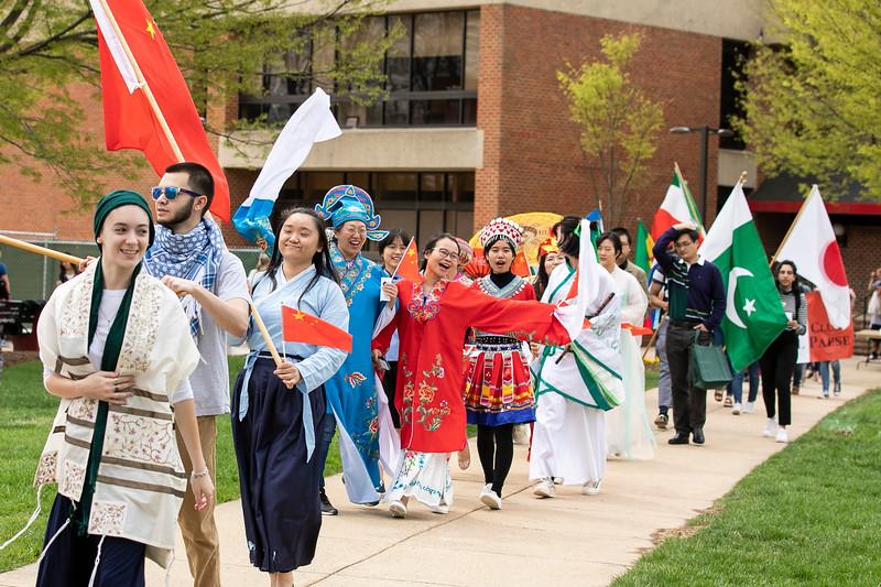 iWeek Parade 2019.  Photo by:  Creative Services/George Mason University