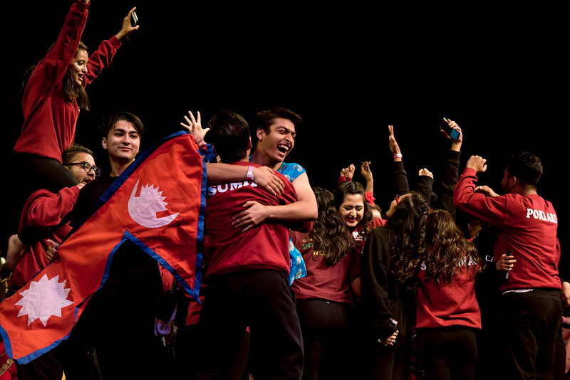 Dance teams compete in the International Week Dance Competition. Photo by Bethany Camp/Creative Services/George Mason University