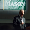 Former Vice President Joe Biden joins Dr. Cabrera, students, faculty and staff at George Mason University to raise awareness about sexual violence on college campuses through the It's On Us campaign.  The event demonstrates Mason's commitment to create and sustain an environment in which every member of the campus community feels safe and can thrive.  Photo by:  Ron Aira/Creative Services/George Mason University