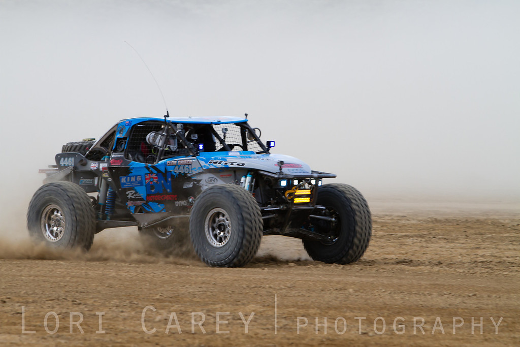 Ben Napier on the lakebed, first lap of King of the Hammers off road race, February 7, 2014.