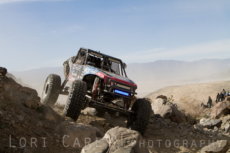Derek West on Wrecking Ball at the 2014 King of the Hammers off road race in Johnson Valley, California