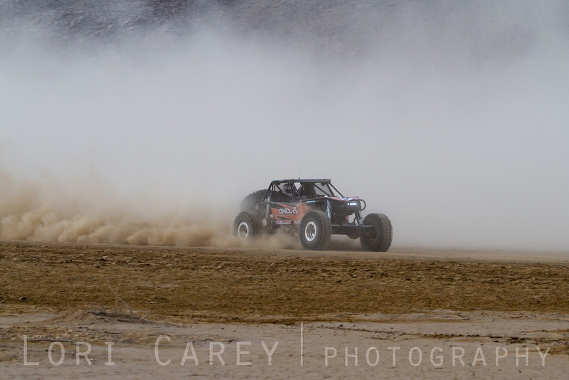 Jake Hallenbeck on the lakebed, first lap of King of the Hammers off road race, February 7, 2014