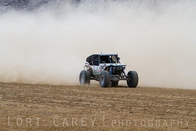JP Gomez on the lakebed, first lap of King of the Hammers off road race, February 7, 2014.