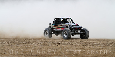 Ivan Vanortwick on the lakebed, first lap of King of the Hammers off road race, February 7, 2014