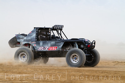Corey Kutcha on the lakebed, first lap of King of the Hammers off road race, February 7, 2014.