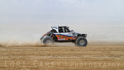 Marcos Gomez on the lakebed, first lap of King of the Hammers off road race, February 7, 2014
