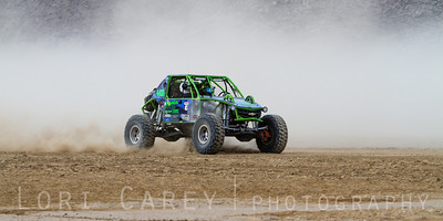 Mike Klensin on the lakebed, first lap of King of the Hammers off road race, February 7, 2014