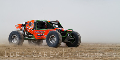Bill Baird on the lakebed, first lap of King of the Hammers off road race, February 7, 2014