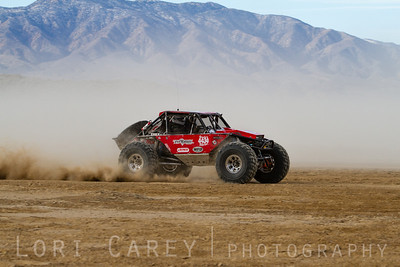 Kevin Yoda on the lakebed, first lap of King of the Hammers off road race, February 7, 2014
