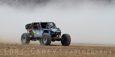 Matthew Rager on the lakebed, first lap of King of the Hammers off road race, February 7, 2014