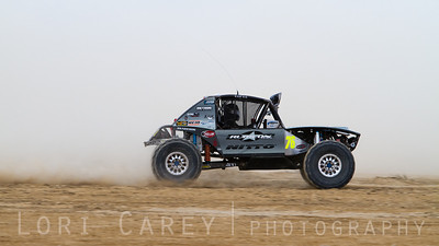 Jason Scherer on the lakebed, first lap of King of the Hammers off road race, February 7, 2014.