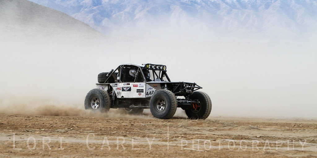 Nick Vona on the lakebed, first lap of King of the Hammers off road race, February 7, 2014