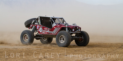 Chris Hoyt on the lakebed, first lap of King of the Hammers off road race, February 7, 2014
