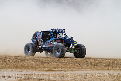 Michael Feagins on the lakebed, first lap of King of the Hammers off road race, February 7, 2014
