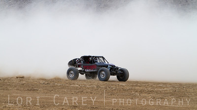 Mark Underwood on the lakebed, first lap of King of the Hammers off road race, February 7, 2014.