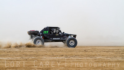 Chicky Barton on the lakebed, first lap of King of the Hammers off road race, February 7, 2014