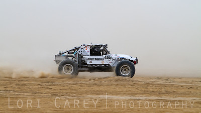 Jackson Stephens on the lakebed, first lap of King of the Hammers off road race, February 7, 2014.