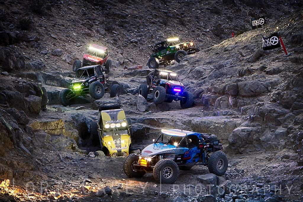 Nitto Racing Team at Backdoor in Johnson Valley, California, 6 February 2014. Ben Napier, Erik Miller, Derek West, Nick Nelson, Loren Healy, Cottin and Randy Rodd