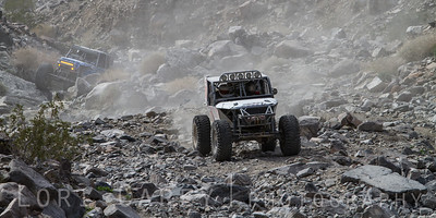 Kevin Sacalas enters Wrecking Ball with Ben Dinkins close behind, 2014 King of the Hammers