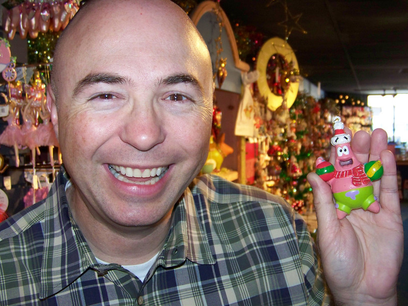 Pat and Patrick in the Kris Kringl Christmas shop.<br /> [Leavenworth, WA]