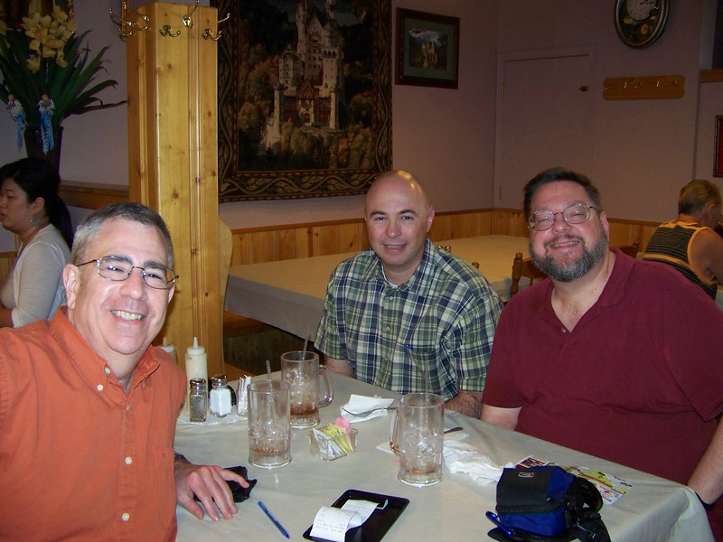 Dave, Pat and Jon in King Ludwig's restaurant.<br /> [Leavenworth, WA]