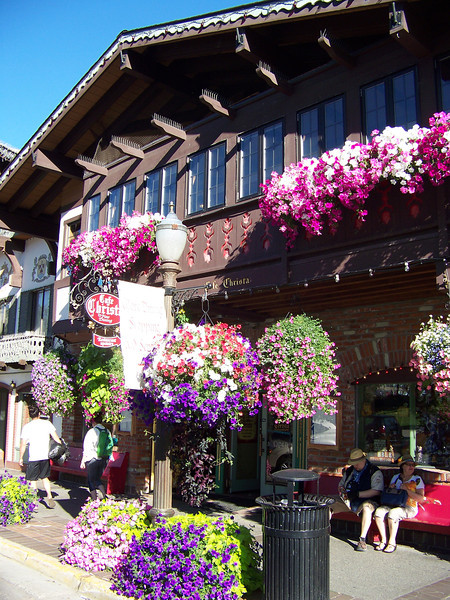 More beautiful flowers along Front Street.<br /> [Leavenworth, WA]
